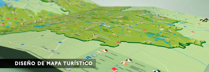 Diseño de Mapa Turístico para Gobex. Creativia Marketing Madrid y Toledo