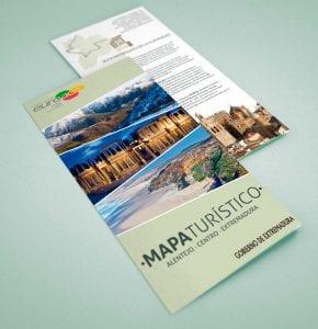 Mapa turístico de la Eurorregión Euroace (Extremadura, Alentejo y Región Centro de Portugal)