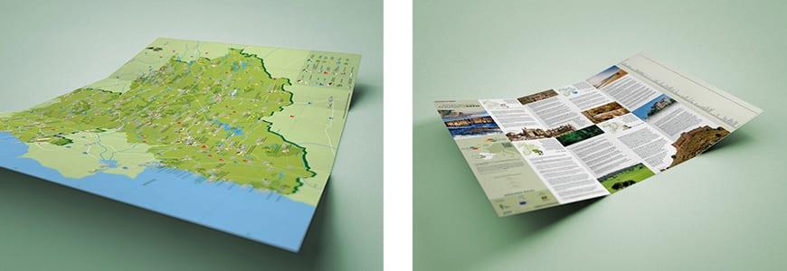Mapa turístico de la Eurorregión Euroace (Extremadura, Alentejo y Región Centro).
