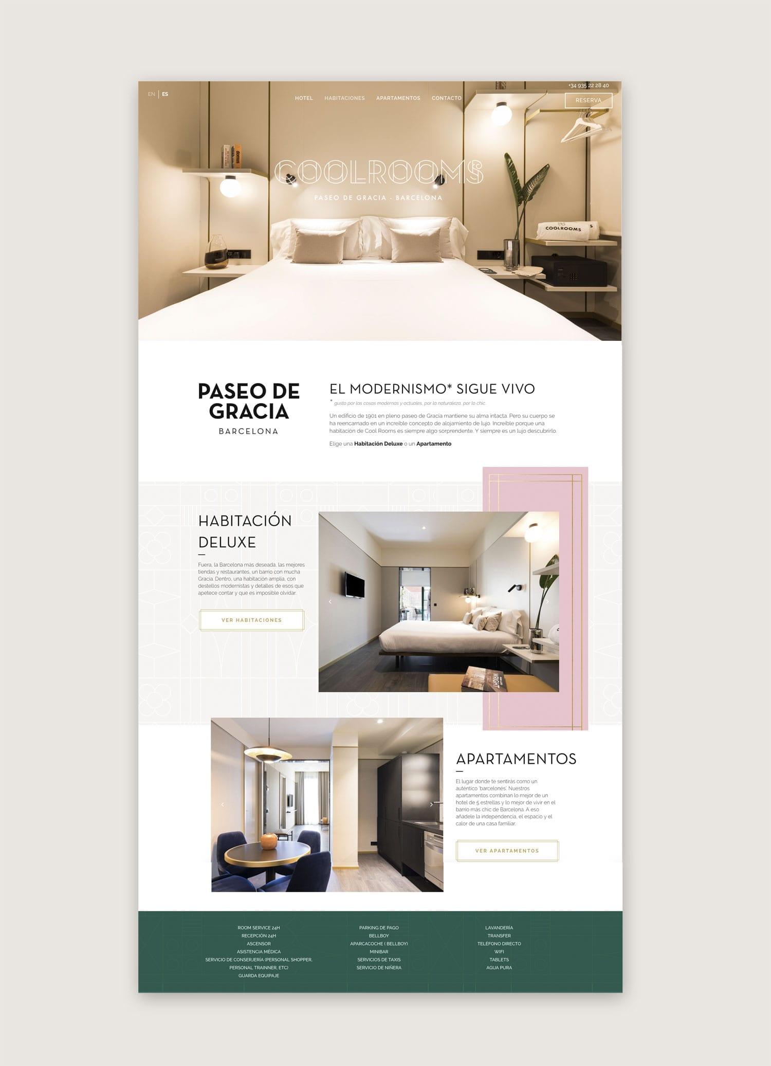 Diseño web Coolrooms Bracelona