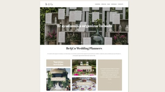 diseño web wedding planners