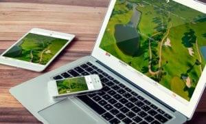 diseño web de golf