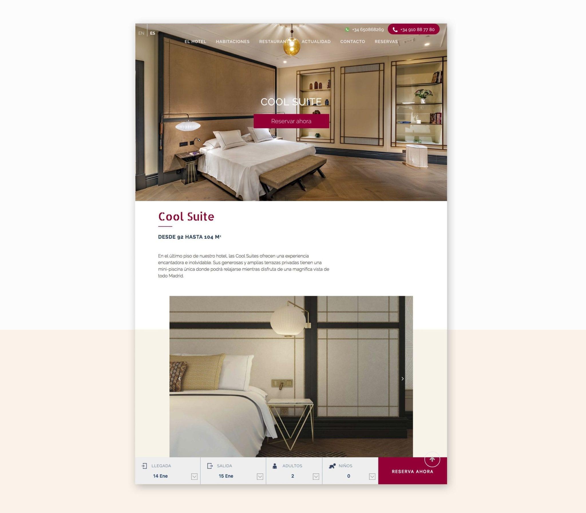 diseño web elegante