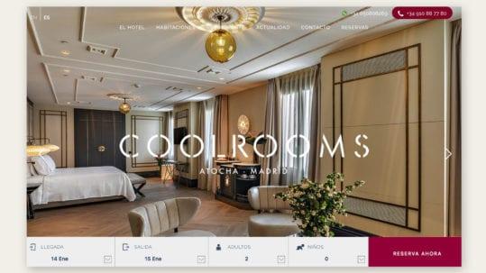 web design hotel CoolRooms Atocha