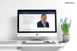 Ramón Freire potencia su marca personal con Creativia y su nuevo sitio web adaptado