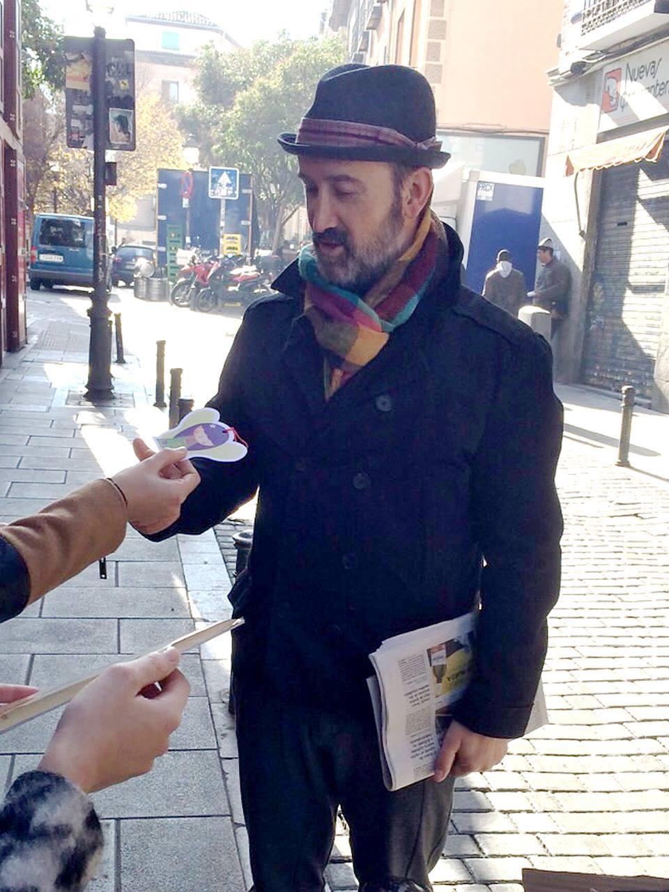 Campaña solidaria a favor de El hada que no sabía volar. Libro de Alba Barón y Raquel Blázquez, creado para recaudar fondos para Xana. Javier Cámara. Actor